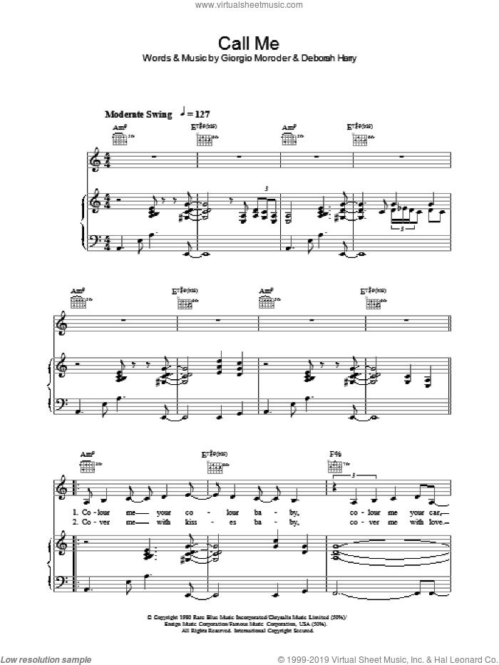 Call Me sheet music for voice, piano or guitar by Lea DeLaria, intermediate skill level