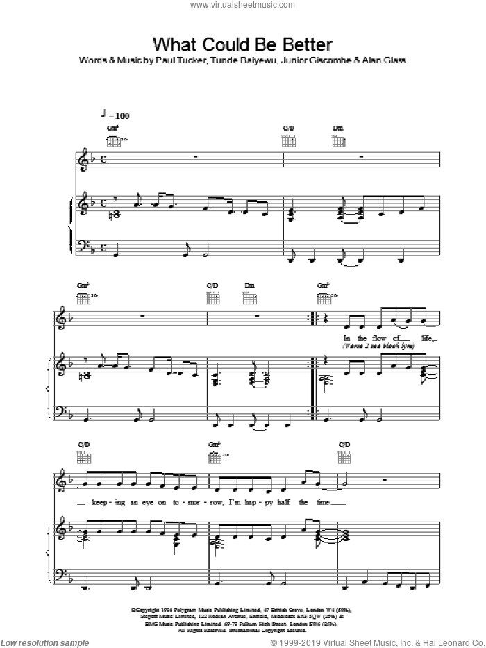 What Could Be Better sheet music for voice, piano or guitar by Lighthouse Family, intermediate skill level
