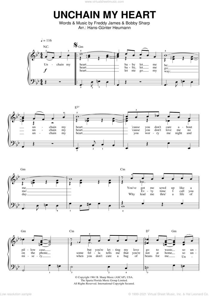 Unchain My Heart sheet music for voice and piano by Joe Cocker, Bobby Sharp and Teddy Powell, intermediate skill level