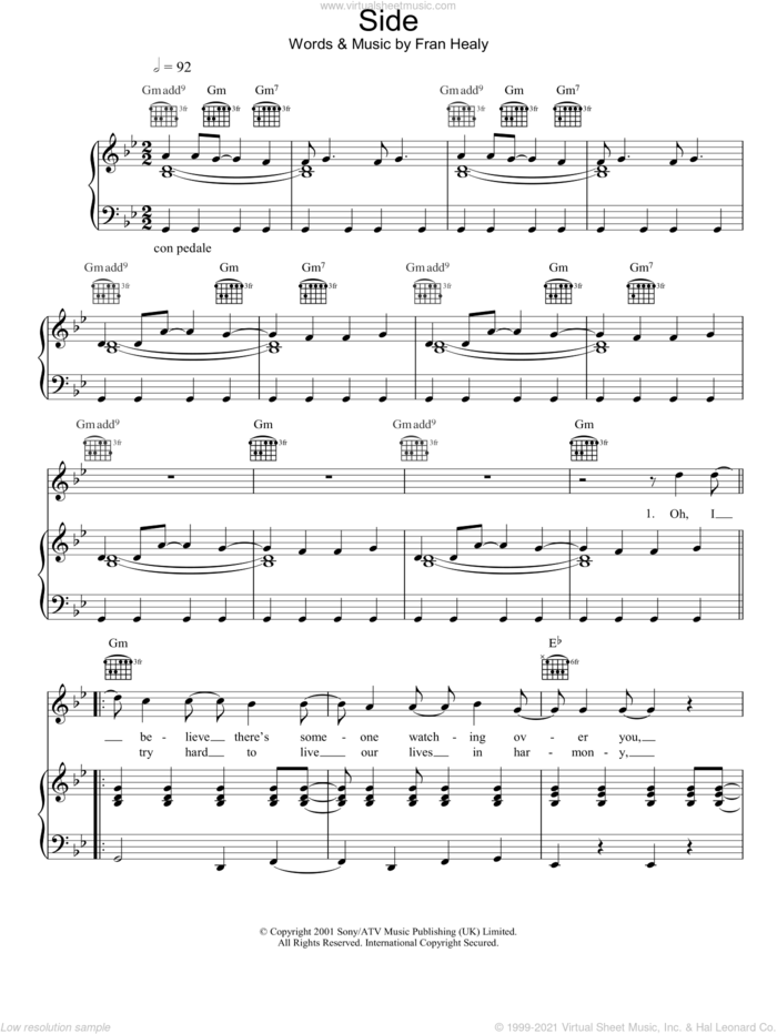 Side sheet music for voice, piano or guitar by Merle Travis, intermediate skill level