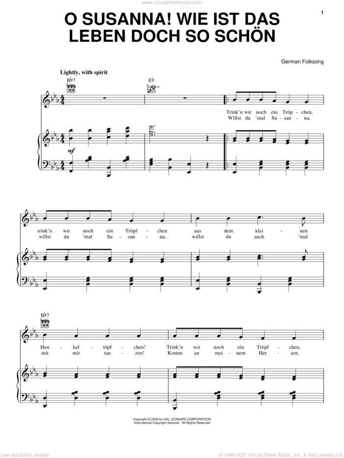O Susanna! Wie Ist Das Leben So Schon sheet music for voice, piano or guitar, intermediate skill level