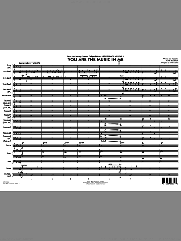 You Are The Music In Me (from High School Musical 2) (COMPLETE) sheet music for jazz band by Jamie Houston and John Berry, intermediate skill level