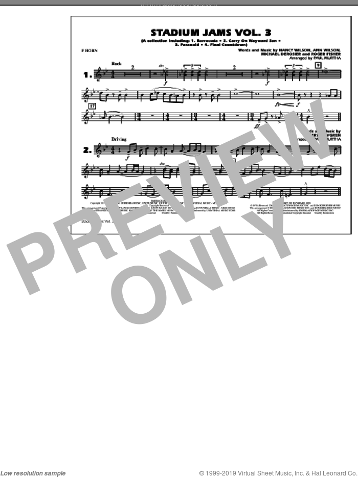Stadium Jams, volume 3 sheet music for marching band (Bb horn/flugelhorn) by Paul Murtha, intermediate skill level