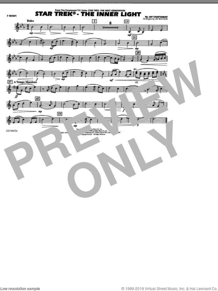 Star Trek, the inner light sheet music for marching band (f horn) by Jay Chattaway and Jay Bocook, intermediate skill level