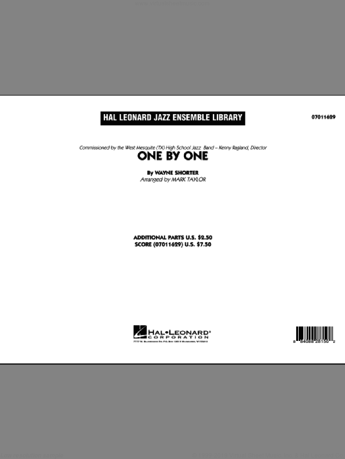 One by One (COMPLETE) sheet music for jazz band by Mark Taylor, Art Blakey and Wayne Shorter, intermediate skill level