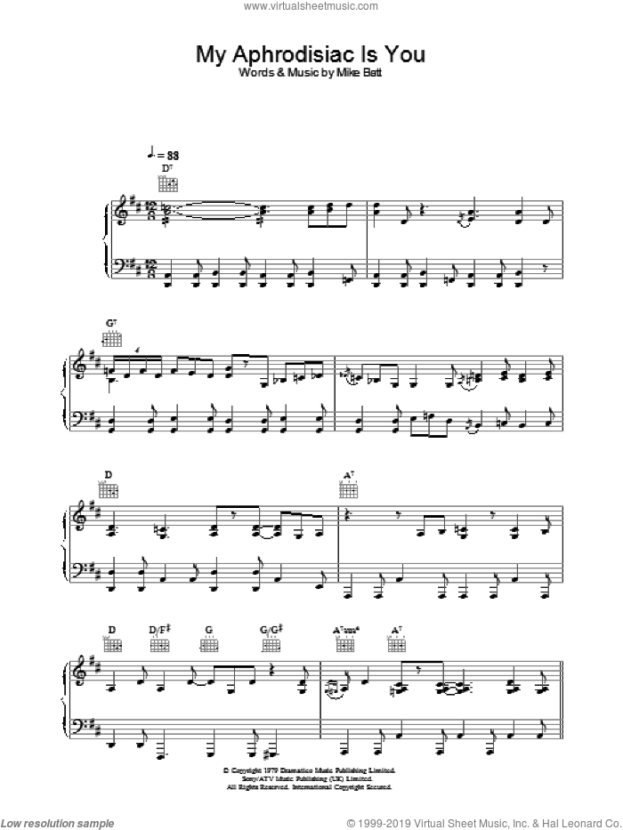 My Aphrodisiac Is You sheet music for voice, piano or guitar by Katie Melua, intermediate skill level