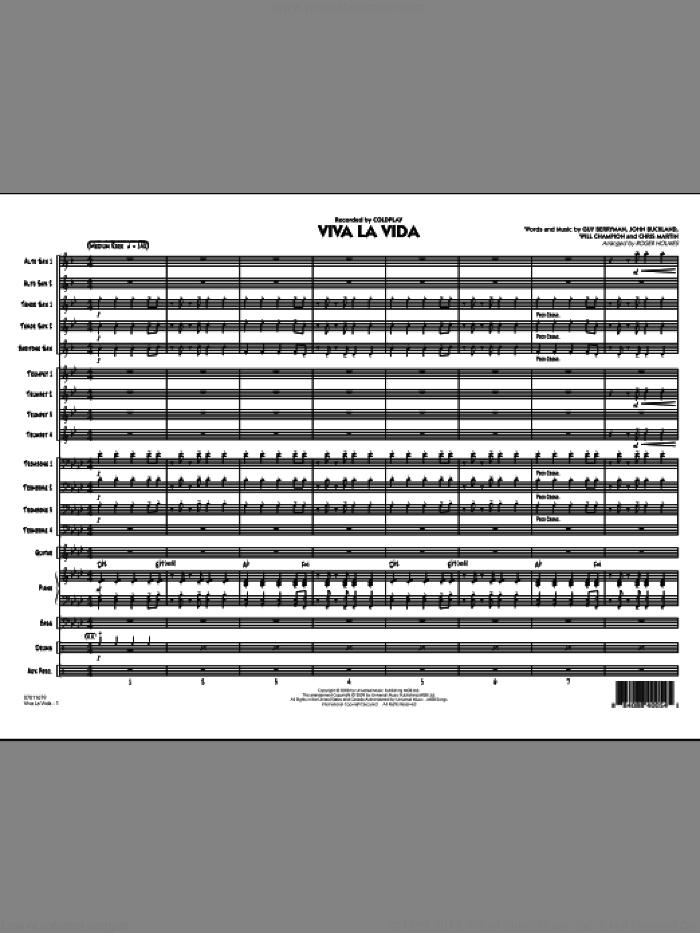 Viva La Vida (COMPLETE) sheet music for jazz band by Coldplay, Chris Martin, Guy Berryman, Jon Buckland, Roger Holmes and Will Champion, intermediate skill level