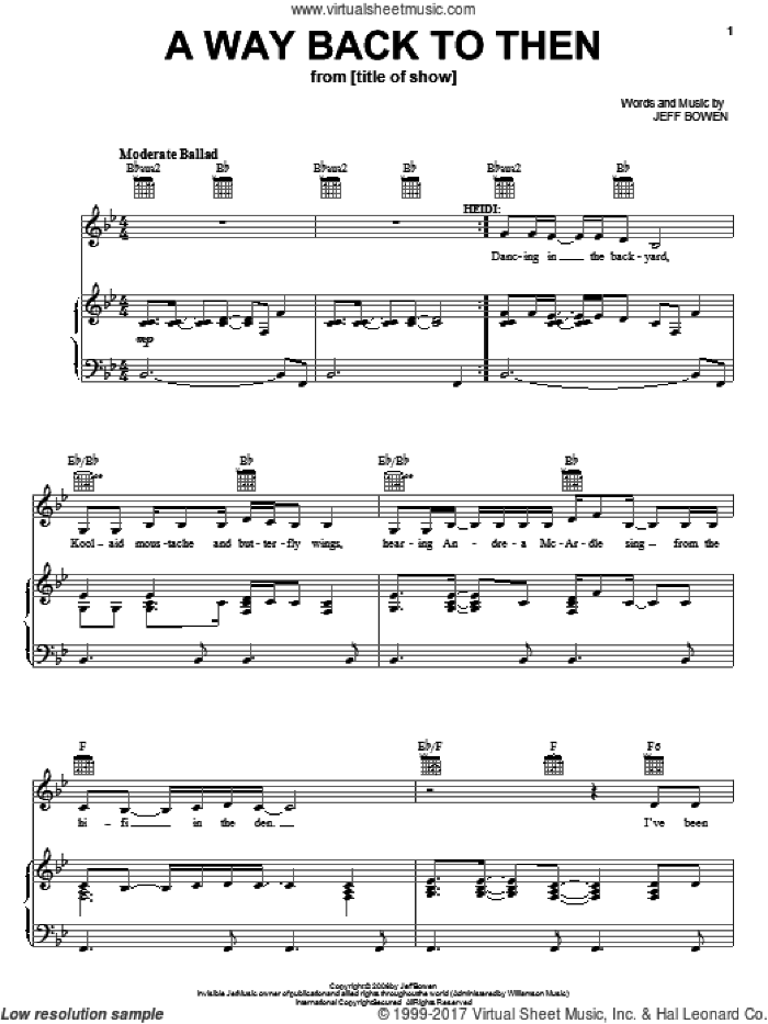 Broadway Selections from (title of show) (complete set of parts) sheet music for voice, piano or guitar by Jeff Bowen, [title of show] (Musical), Susan Blackwell and title of show (Musical), intermediate skill level