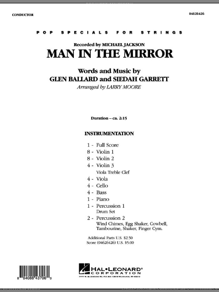 Man in the Mirror (COMPLETE) sheet music for orchestra by Glen Ballard, Siedah Garrett, Larry Moore and Michael Jackson, intermediate skill level