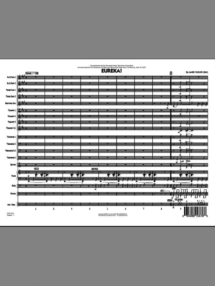 Eureka! (COMPLETE) sheet music for jazz band by Mark Taylor, intermediate skill level