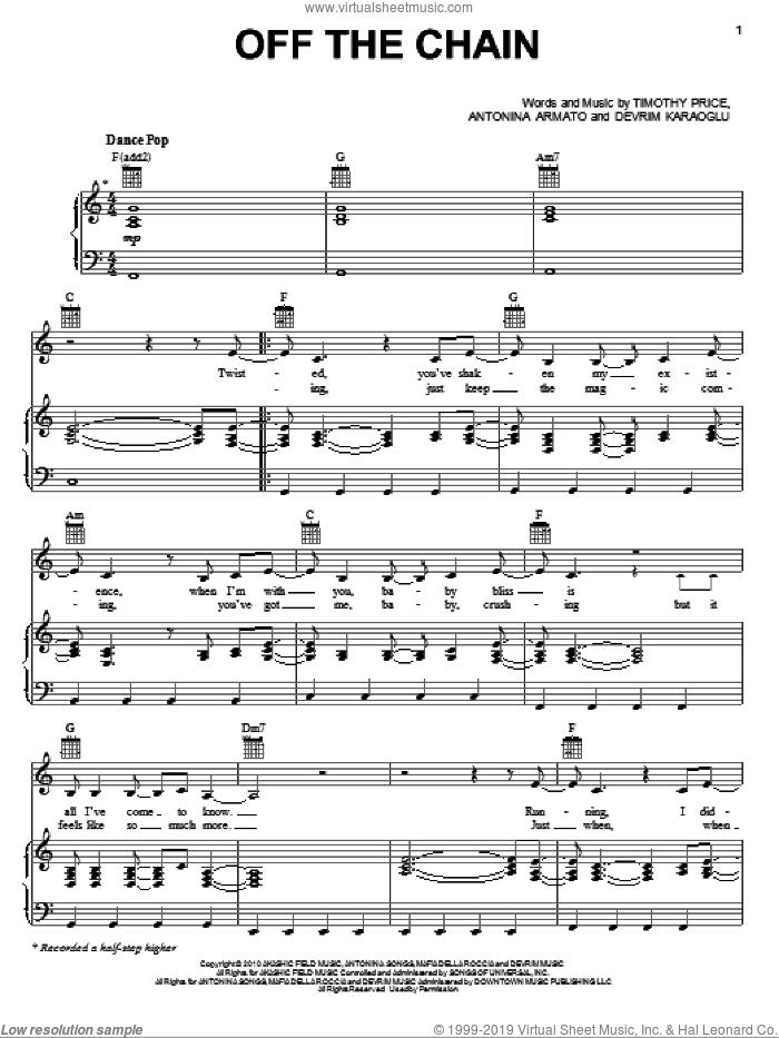 Off The Chain sheet music for voice, piano or guitar by Selena Gomez, Antonina Armato, Devrim Karaoglu and Timothy Price, intermediate skill level