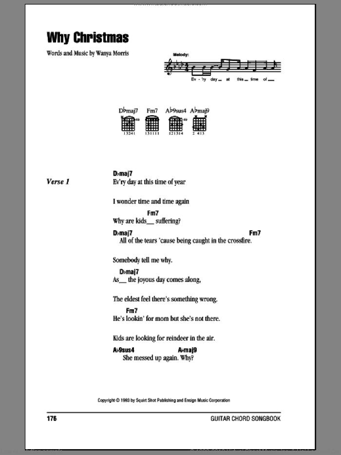 Why Christmas sheet music for guitar (chords) by Boyz II Men and Wanya Morris, intermediate skill level