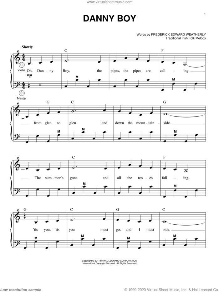 Danny Boy sheet music for accordion by Frederick Edward Weatherly, Gary Meisner and Traditional Irish, intermediate skill level