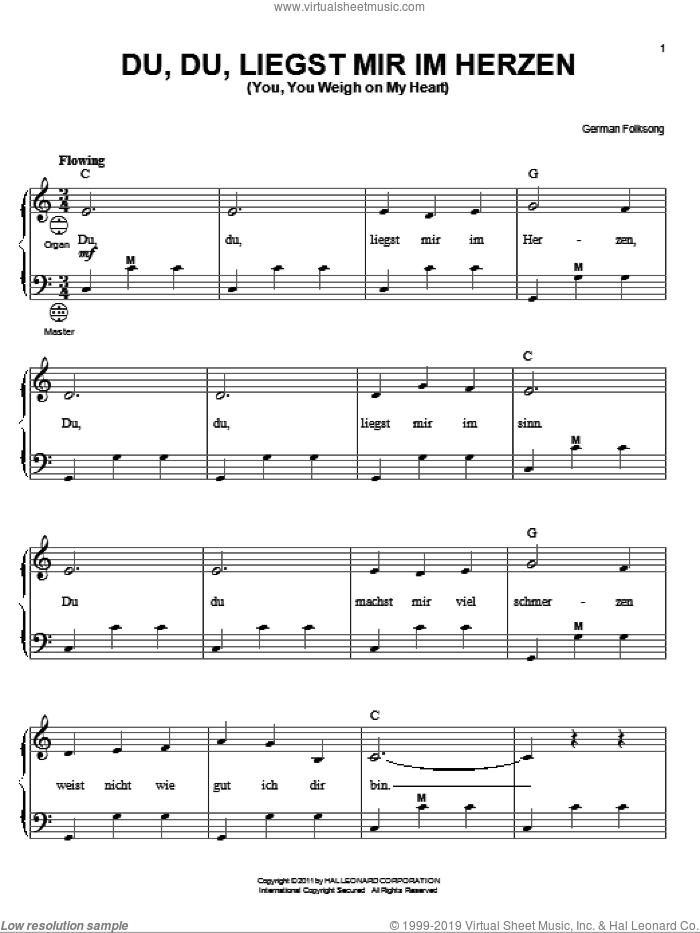 Du, Du Liegst Mir Im Herzen (You, You Weigh On My Heart) sheet music for accordion  and Gary Meisner, intermediate skill level