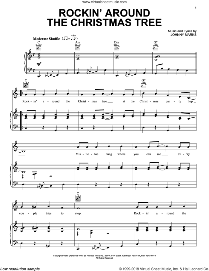 Christmas - Santa's Hits II (complete set of parts) sheet music for voice, piano or guitar by Richard Rodgers, Andy Williams, Various Artists, Brenda Lee, Brian Wilson, Cyndi Lauper, Donna Fargo, Frank Sinatra, Gloria Shayne, Haven Gillespie, J. Fred Coots, John Denver, Johnny Marks, Julie Andrews, Mike Love, Noel Regney, Oscar II Hammerstein, Rodgers & Hammerstein, The Beach Boys and The Sound Of Music (Musical), intermediate skill level