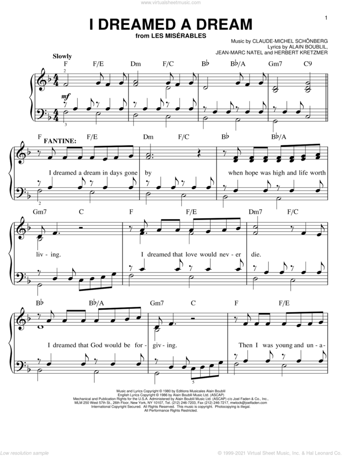 Les Miserables Easy Piano Movie Pack featuring Suddenly sheet music for piano solo by Claude-Michel Schonberg, Alain Boublil and Les Miserables (Movie), easy skill level