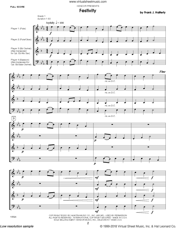 Musical Postcards (10 Woodwind Quartets From Around The World) (COMPLETE) sheet music for wind quartet by Frank J. Halferty, classical score, intermediate skill level