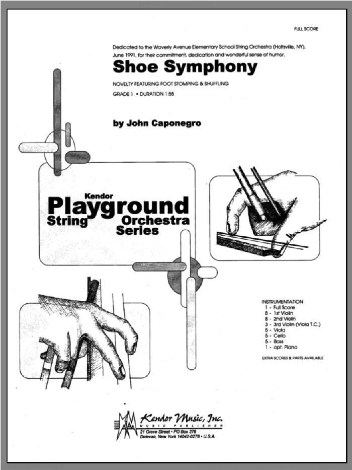 Shoe Symphony (COMPLETE) sheet music for orchestra by John Caponegro, classical score, intermediate skill level
