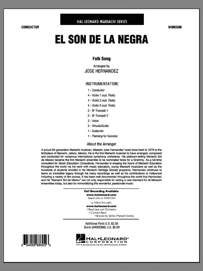 El Son de la Negra (COMPLETE) sheet music for concert band by Jose Hernandez, intermediate skill level