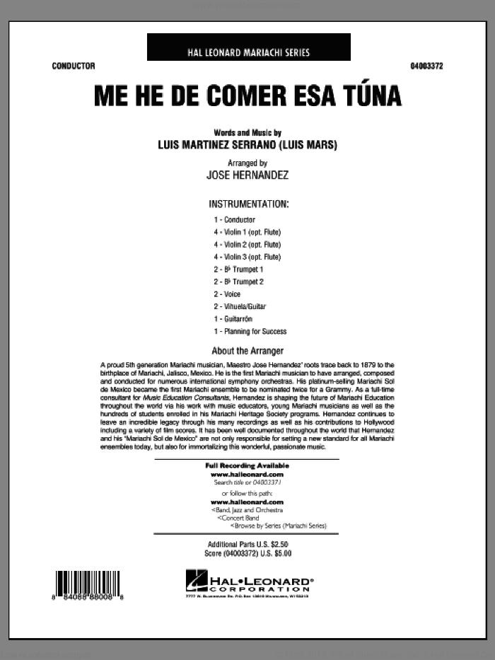 Me He de Comer Esa Tuna (COMPLETE) sheet music for concert band by Luis Martinez Serrano, intermediate skill level