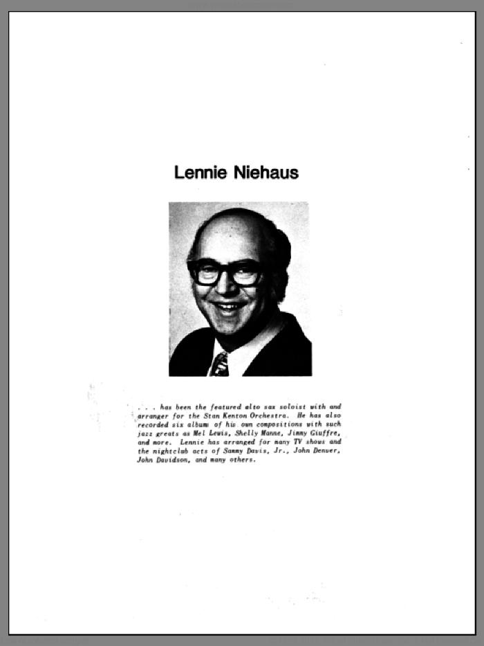 10 Jazz Inventions sheet music for brass ensemble by Lennie Niehaus, intermediate skill level