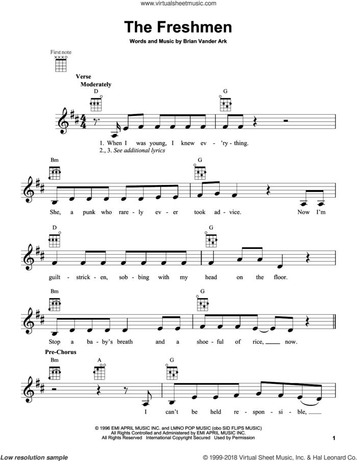 The Freshmen sheet music for ukulele by The Verve Pipe, intermediate skill level