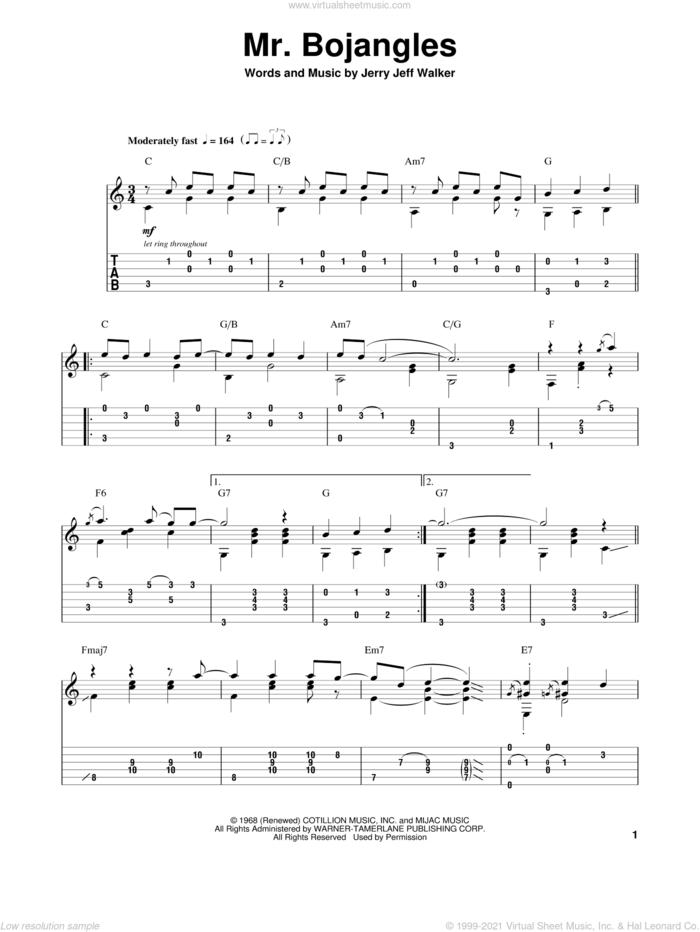Mr. Bojangles sheet music for guitar (tablature, play-along) by Chet Atkins, intermediate skill level