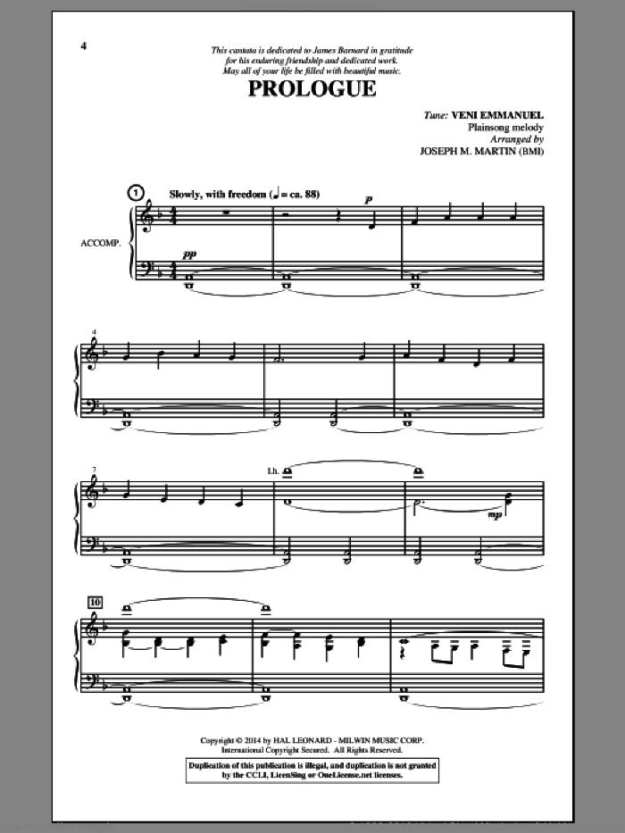 O Come, O Come, Emmanuel sheet music for choir (SAB: soprano, alto, bass) by Joseph M. Martin, 15th Century French Melody, Henry S. Coffin (v. 3,4), John M. Neale (v. 1,2), Miscellaneous and Thomas Helmore, intermediate skill level