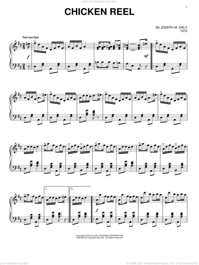 Chicken Reel sheet music for piano solo by Joseph M. Daly, intermediate skill level