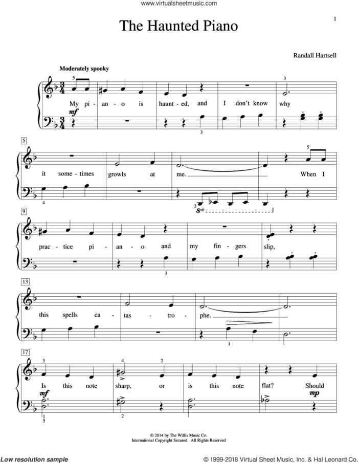 The Haunted Piano sheet music for piano solo (elementary) by Randall Hartsell, beginner piano (elementary)