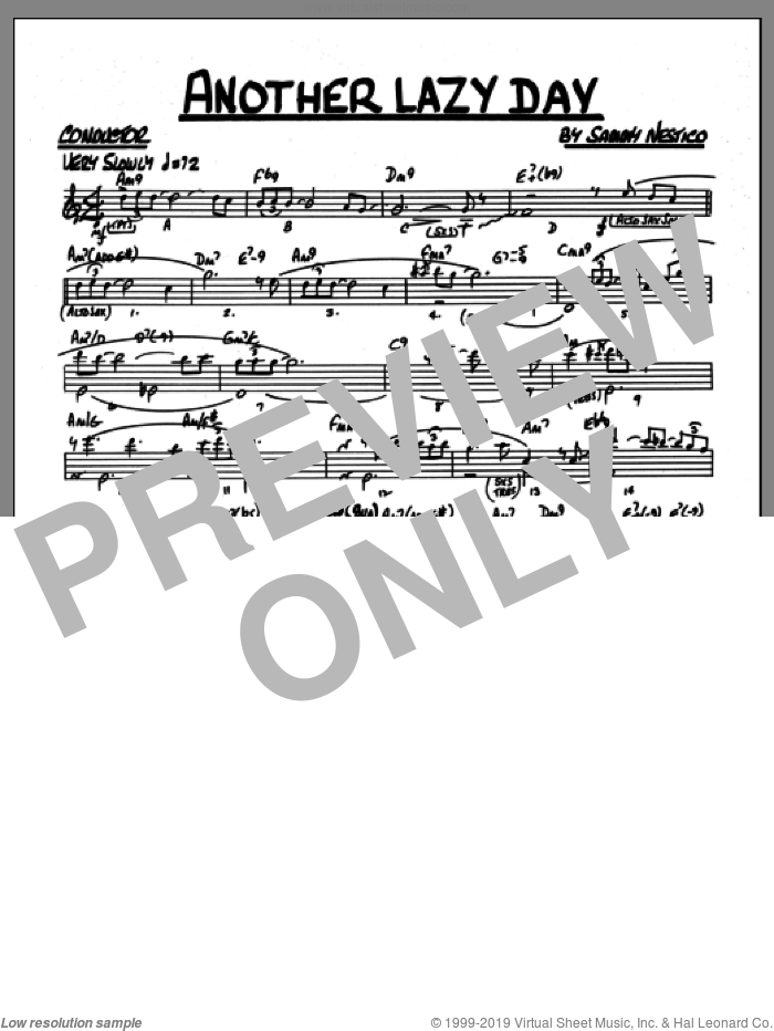 Another Lazy Day (COMPLETE) sheet music for jazz band by Sammy Nestico, intermediate skill level