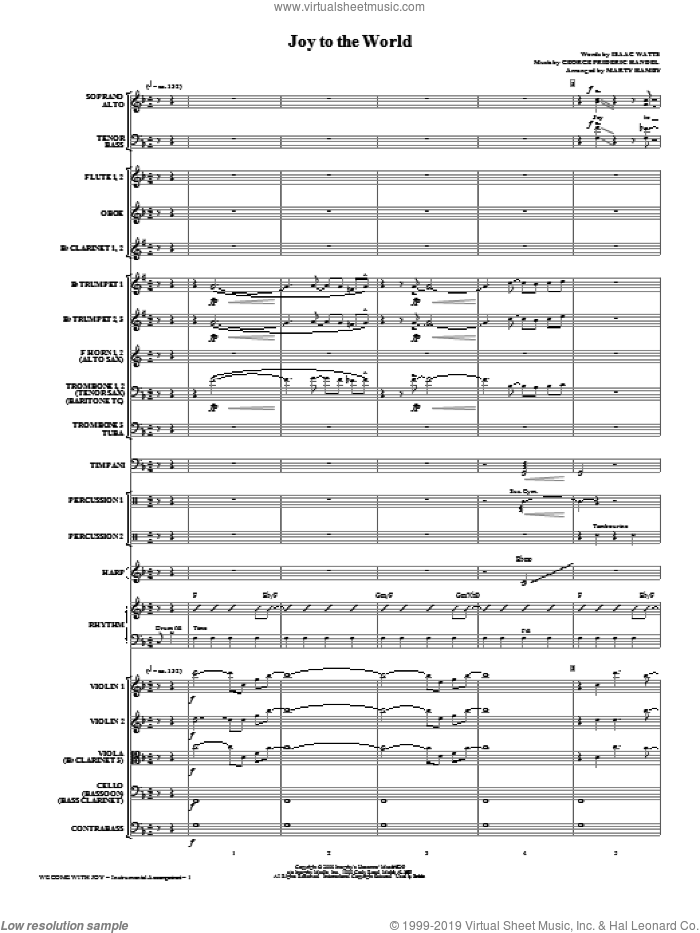 We Come With Joy Orchestration (COMPLETE) sheet music for orchestra/band (Orchestra) by Buddy Greene, Kathy Mattea, Mark Lowry and Marty Hamby, intermediate skill level