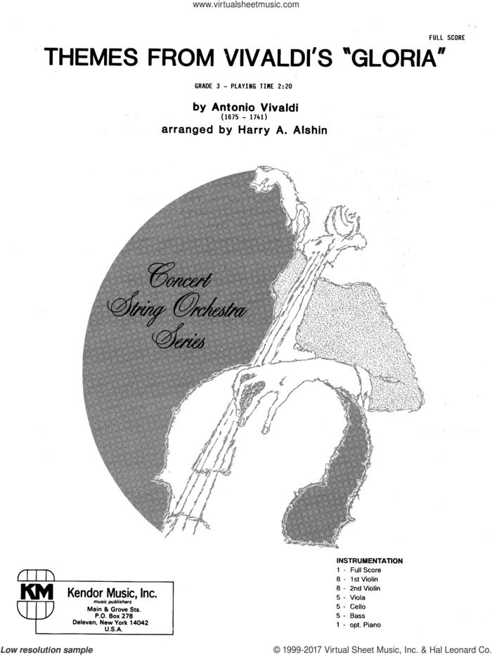 Themes From Vivaldi's Gloria (COMPLETE) sheet music for orchestra by Antonio Vivaldi and Alshin, classical score, intermediate skill level