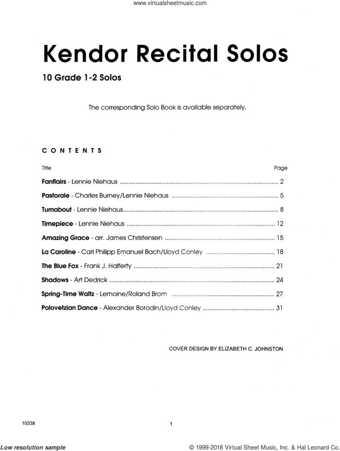 Kendor Recital Solos - Tenor Saxophone (Piano Accompaniment Book Only) sheet music for tenor saxophone and piano, intermediate skill level