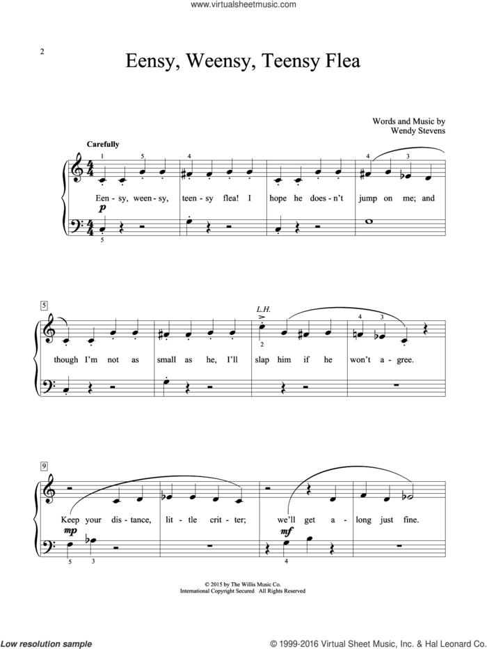 Eensy, Weensy, Teensy Flea sheet music for piano solo (elementary) by Wendy Stevens, beginner piano (elementary)