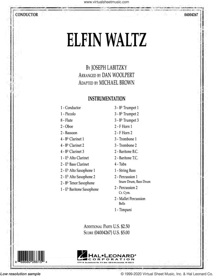 Elfin Waltz (COMPLETE) sheet music for concert band by Michael Brown, Dan G. Woolpert and Joseph Labitzky, intermediate skill level