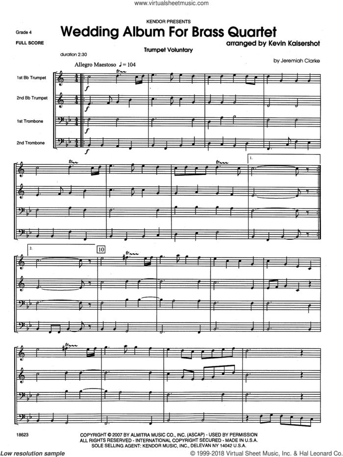 Wedding Album For Brass Quartet (COMPLETE) sheet music for brass quintet by Kevin Kaisershot, wedding score, intermediate skill level