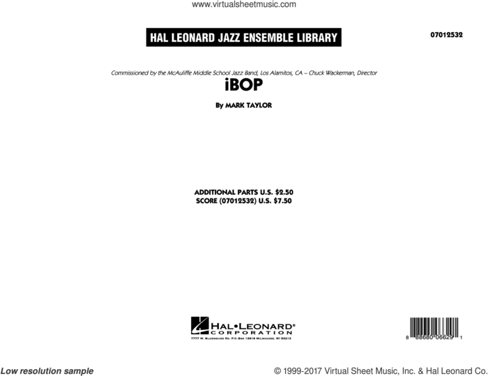 iBop (COMPLETE) sheet music for jazz band by Mark Taylor, intermediate skill level