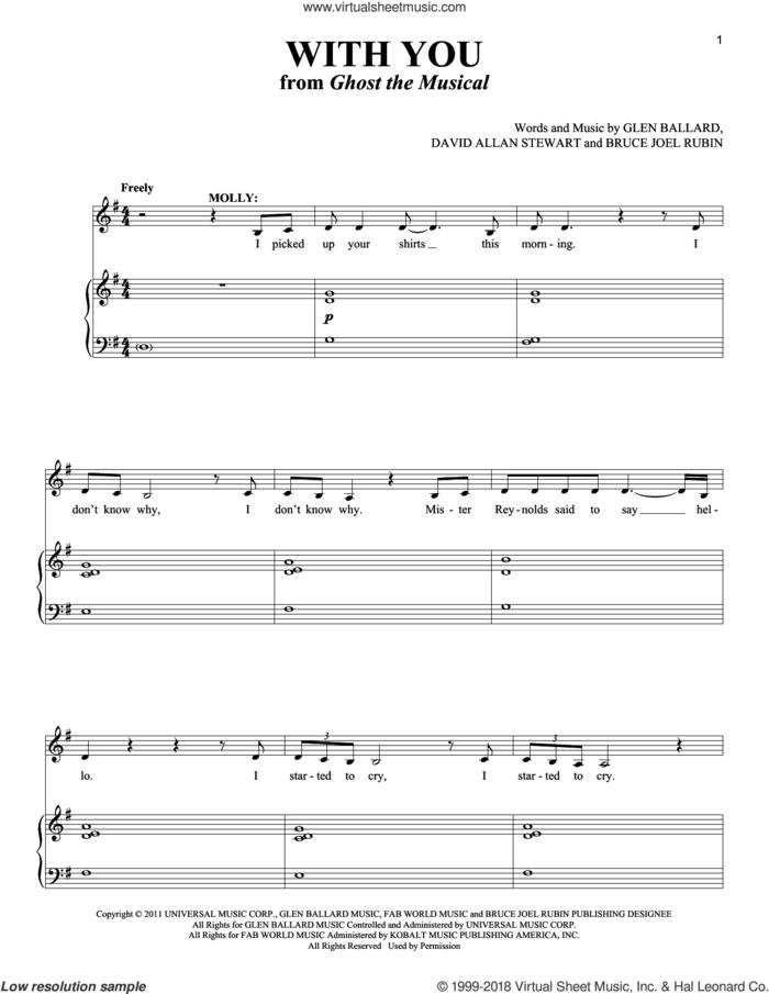With You sheet music for voice and piano by David Allan Stewart, Richard Walters, Bruce Joel Rubin and Glen Ballard, intermediate skill level