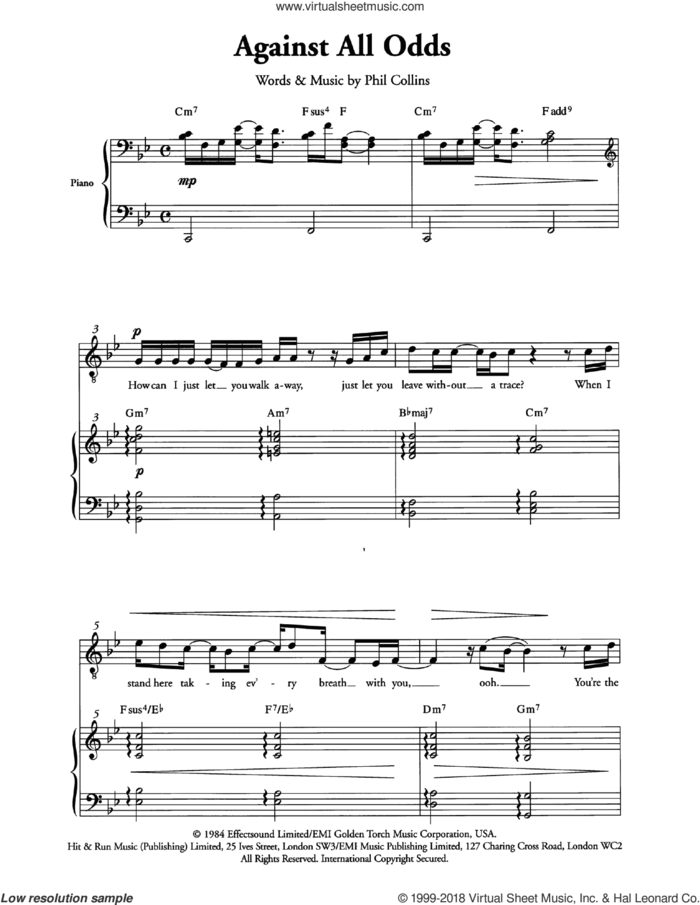 Against All Odds (Take A Look At Me Now) (Arr. Berty Rice) sheet music for choir by Phil Collins and Berty Rice, intermediate skill level