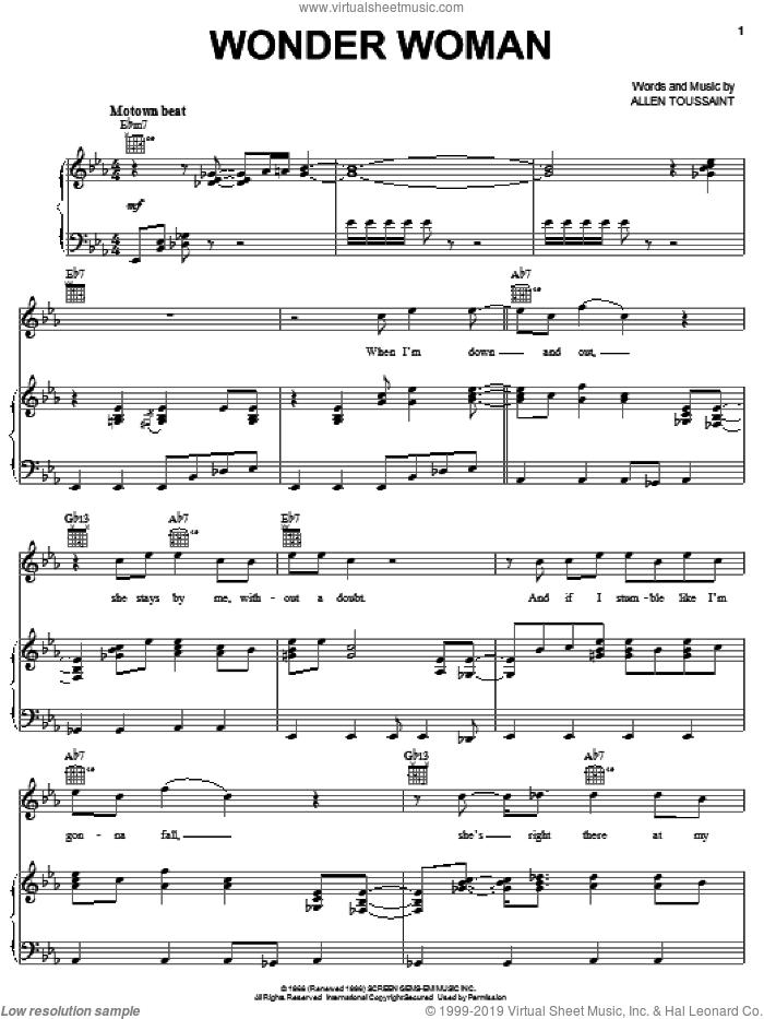 Wonder Woman sheet music for voice, piano or guitar by Elvis Costello & Allen Toussaint, Elvis Costello and Allen Toussaint, intermediate skill level
