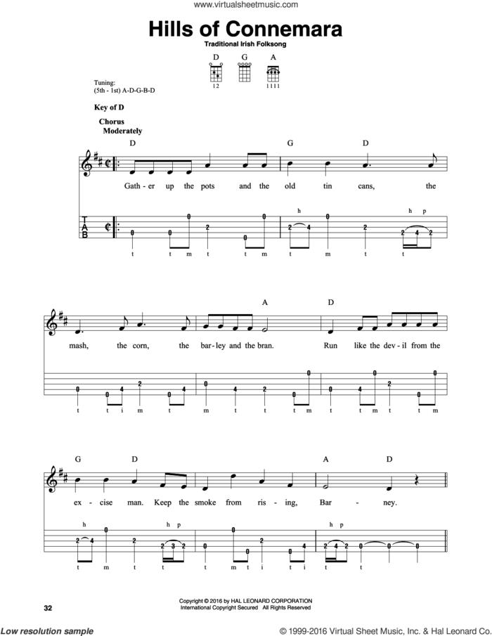 Hills Of Connemara sheet music for banjo solo, intermediate skill level