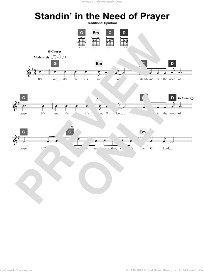 Standin' In The Need Of Prayer sheet music for guitar solo (ChordBuddy system)  and Travis Perry, intermediate guitar (ChordBuddy system)
