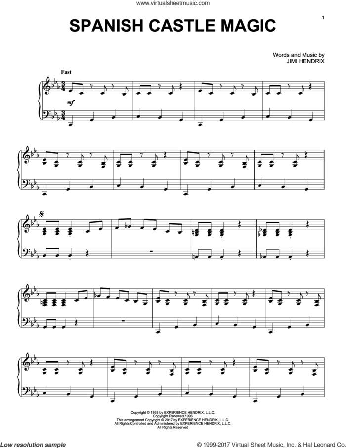 Spanish Castle Magic [Jazz version] sheet music for piano solo by Jimi Hendrix, intermediate skill level