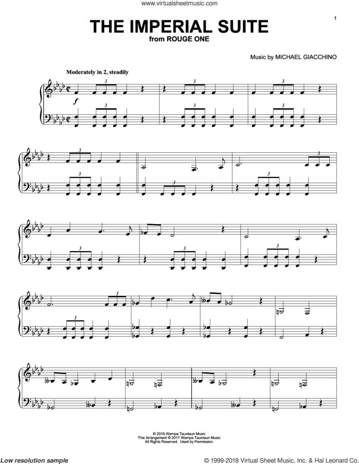 The Imperial Suite, (intermediate) sheet music for piano solo by Michael Giacchino, classical score, intermediate skill level