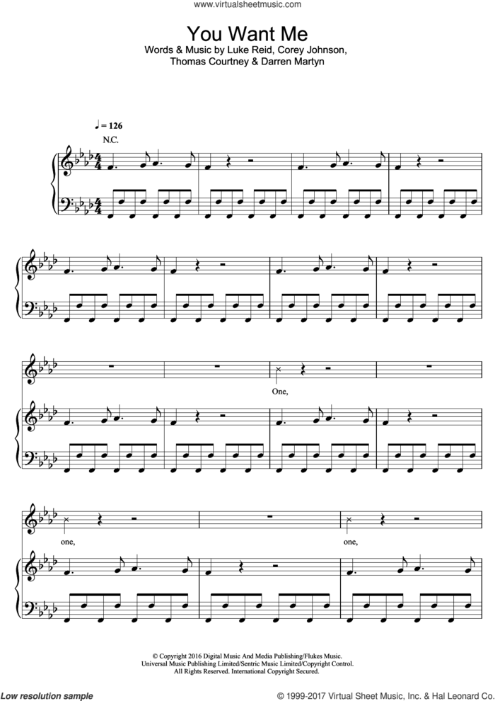 You Want Me (featuring Sadie Ama) sheet music for voice, piano or guitar by Tom Zanetti and Sadie Ama, intermediate skill level