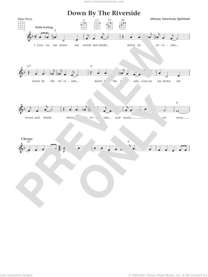 Down By The Riverside (from The Daily Ukulele) (arr. Liz and Jim Beloff) sheet music for ukulele , Jim Beloff and Liz Beloff, intermediate skill level