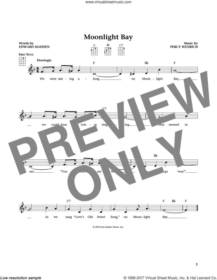 Moonlight Bay (from The Daily Ukulele) (arr. Liz and Jim Beloff) sheet music for ukulele by Edward Madden, Jim Beloff, Liz Beloff and Percy Wenrich, intermediate skill level