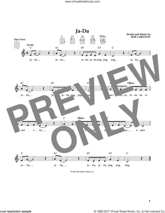 Ja-Da (from The Daily Ukulele) (arr. Liz and Jim Beloff) sheet music for ukulele by Bob Carleton, Jim Beloff and Liz Beloff, intermediate skill level