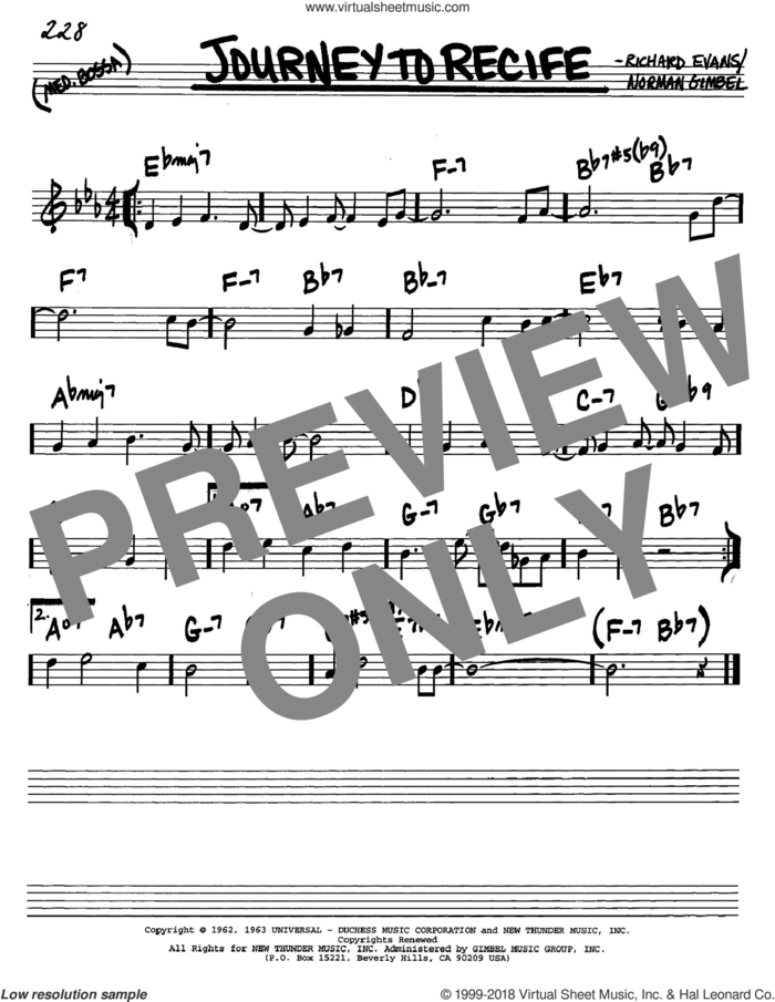 Journey To Recife sheet music for voice and other instruments (in C) by Norman Gimbel and Richard Evans, intermediate skill level